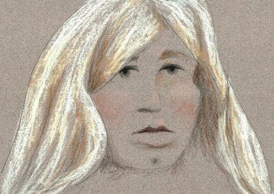 Sketch of Photo of Manning as Female; Document Revealed During Sentencing Phase of Trial