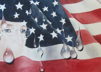 Watercolor: Manning and the Leaking American Flag