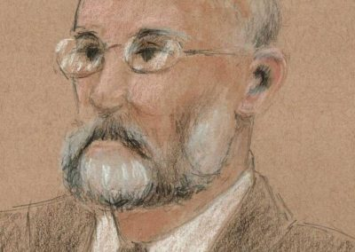 Portrait of Defense Witness Harvard Professor Yokai Benkler