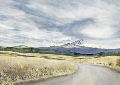 Mt. Shasta watercolor by Deb Van Poolen